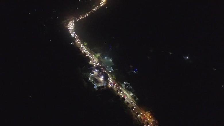 Foto: Kepadatan Lalin di Nagreg dari udara/Dok. Pos Induk Dishub Kabupaten Bandung