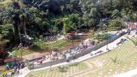 Teras Cikapundung menjadi salah satu tempat tujuan wisatawan saat libur Lebaran.