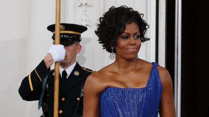 Michelle Obama saat menghadiri Southern Inaugural Ball di Washington, DC, 21Januari 2009. Foto: Getty Images