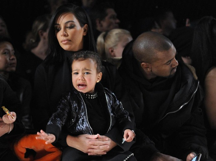 Kim Kardashian dan North West. Foto: Getty Images