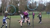 Beberapa bahkan menggelar turnamen Quidditch. REUTERS/Neil Hall.