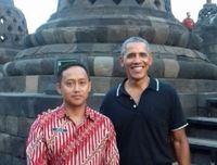 Obama di Candi Borobudur, kemarin (28/6/2017).