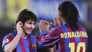 Ronaldinho: Aku Beruntung Bisa Beri Assist untuk Gol Pertama Messi
