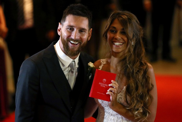 Pernikahan Lionel Messi dan Antonella Roccuzzo Berlangsung Meriah (Foto: Reuters)