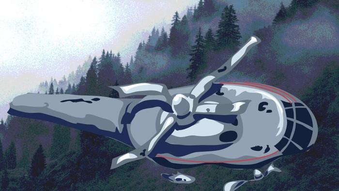 Ilustrasi kecelakaan helikopter