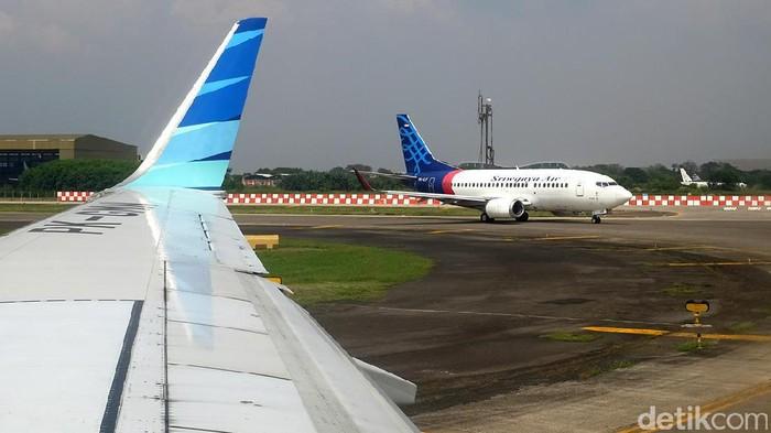 Foto: Pesawat Sriwijaya Air (Ari Saputra/detikcom).