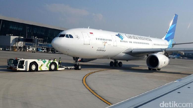 Ilustrasi pesawat maskapai Garuda Indonesia (Ari Saputra/detikTravel)