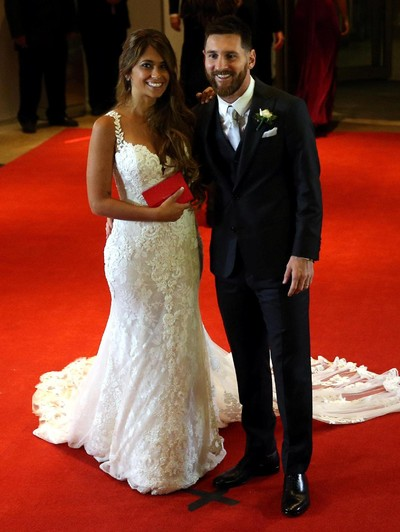Pernikahan Lionel Messi dan Antonella Roccuzzo. Foto: REUTERS/Marcos Brindicci