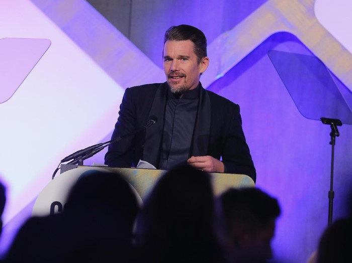 NEW YORK, NY - NOVEMBER 28:  Ethan Hawke speaks onstage at IFPs 26th Annual Gotham Independent Film Awards at Cipriani, Wall Street on November 28, 2016 in New York City.  (Photo by Jemal Countess/Getty Images for IFP)