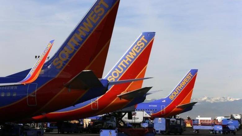 Ilustrasi pesawat Southwest Airlines