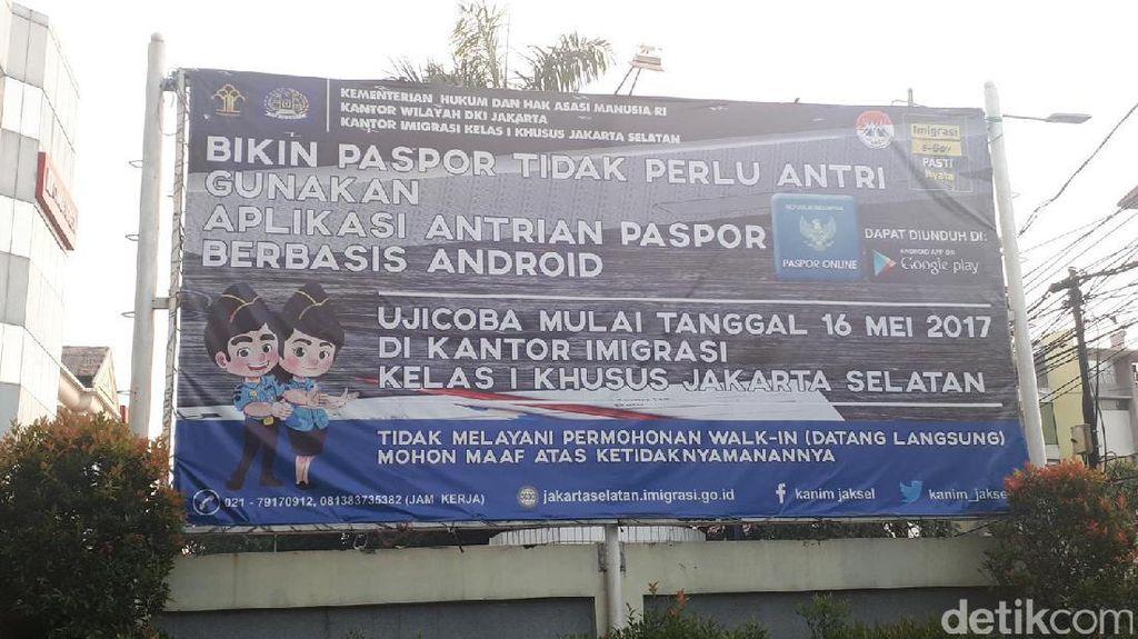 Ingat, Ambil Nomor Antrean di Kantor Imigrasi Jakarta Selatan Via Online