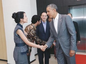 Bangganya Maudy Ayunda Bertemu dengan Obama