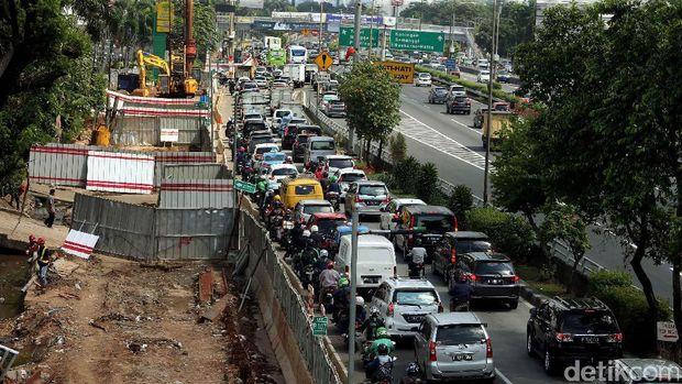 Ilustrasi kemacetan Jakarta