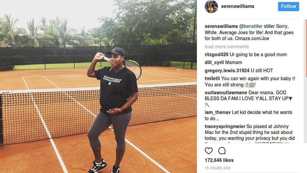 Kangen Lapangan, Serena Williams Tetap Main Tenis Saat Hamil
