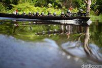 Patroli tentara penjaga perbatasan RI-PNG.