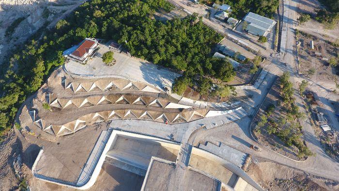 Bendungan ini merupakan bendungan pertama yang dibangun Presiden Joko Widodo (Jokowi) di NTT. Pool/dok. Kementerian PUPR.