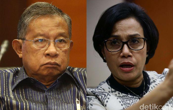 Menteri Koordinator Bidang Perekonomian Darmin Nasution pagi ini menjadi Menteri Keuangan (Menkeu) sementara menggantikan Sri Mulyani Indrawati pada sidang Paripurna Dewan Perwakilan Rakyat (DPR).