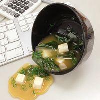 Sup miso berbahan plastik.