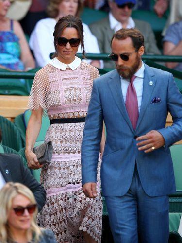 Pippa Middleton pakai gaun menerawang di Wimbledon 2017.