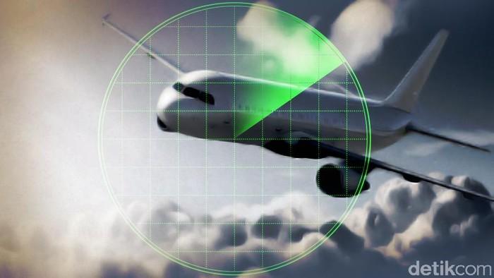 Foto: Ilustrasi pesawat hilang (dok detikcom)