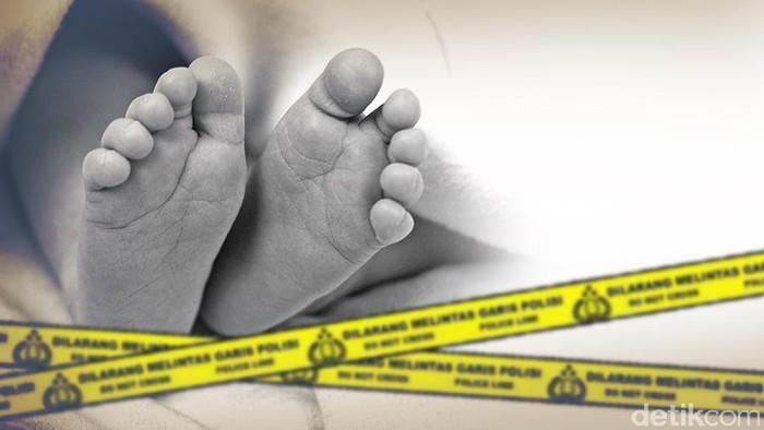 Ilustrasi penemuan mayat bayi (Dok detikcom)