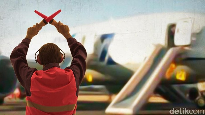 Ilustrasi Pesawat Mendarat Darurat