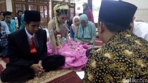 Tahanan Kasus Pengeroyokan Menikah di Masjid Polres Jepara