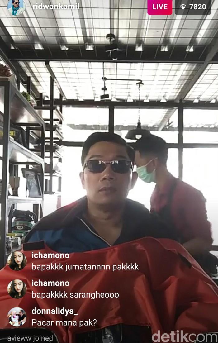 Foto: Live Instagram Ridwan Kamil