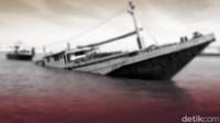 Kecelakaan, Kapal Feri KMP Dorothy Tenggelam di Perairan Pulau Merak Besar