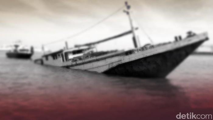 Ilustrasi kapal tenggelam atau kecelakaan kapal(Dok detikcom)