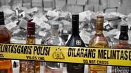 Polisi Gerebek Pabrik Miras Impor Palsu di Bogor