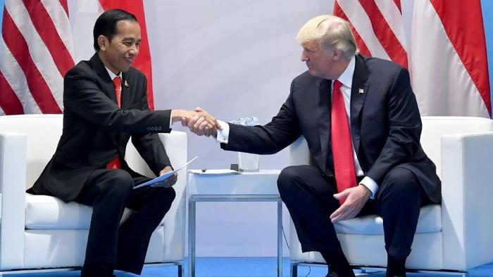 Presiden Jokowi dan Trump/Foto: Setpres