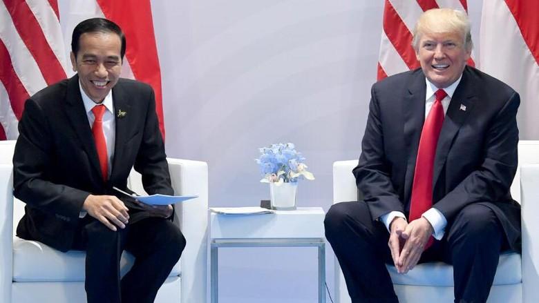 Bertemu di Sela KTT G20, Jokowi: Donald Trump Ternyata Suka Melucu