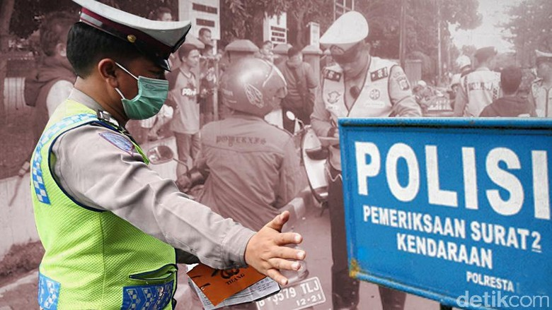 Selama Oktober, Polres Garut Tilang Seratus Pengguna Rotator