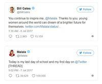 Bill Gates Gelar 'Karpet Merah' Buat Malala Yousafzai
