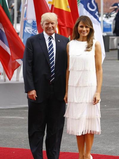 Melania Trump di Hamburg, Jerman. Foto: Morris MacMatzen/Getty Images