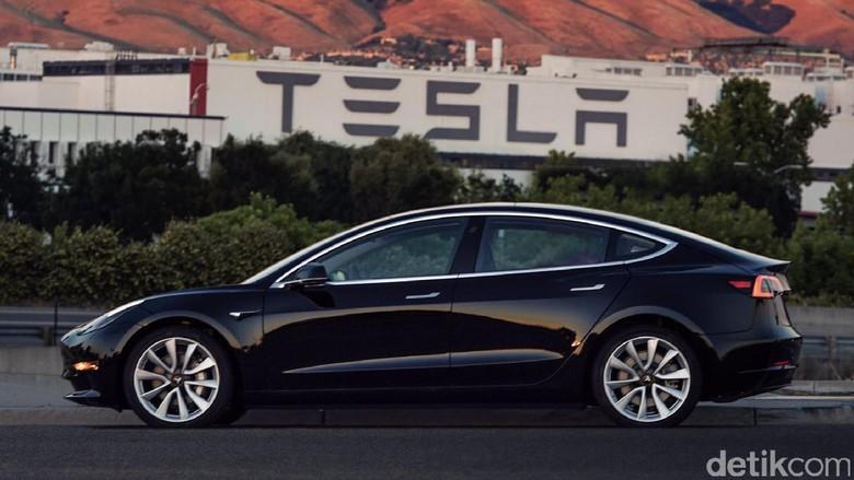 Mobil listrik Tesla Model 3 Foto: Elon Musk