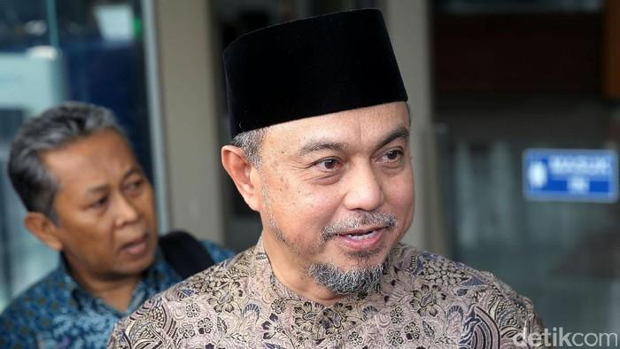 Eks pimpinan Badan Anggaran (Banggar) DPR Tamsil Linrung diperiksa KPK terkait dengan kasus e-KTP, Selasa (11/7/2017).