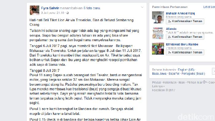 Lion Air Traveloka Cek Keluhan Viral Soal Refund Tiket Misterius