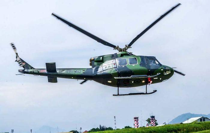 Helikopter BELL 412EP yang dipakai disejumlah negara tetangga. Pool/dok PTDI/File.