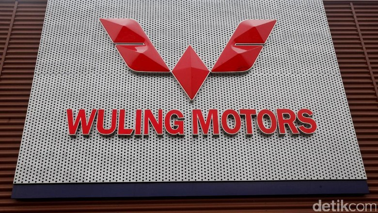 Logo mobil Wuling di pabrik Wuling (Foto: Muhammad Ridho)