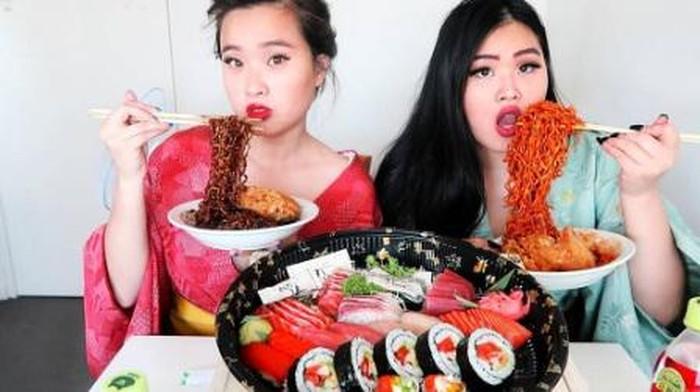 Foto: Screenshot YouTube Foodtalesmukbang/Instagram Eating.Show/Yuka Kinoshita