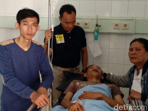 Korban bernama Gagah Pratama dirawat karena dikeroyok