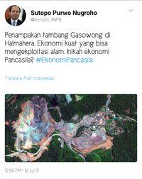 Soroti Area Tambang, Kepala Data BNPB: Inikah Ekonomi Pancasila?