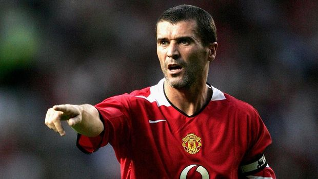 MANCHESTER, ENGLAND - AUGUST 9:  Roy Keane of Manchester United during the Champions League third qualifying round, first leg match between Manchester United and Debreceni VSC at Old Trafford on August 9, 2005 in Manchester, England.  (Photo by Clive Brunskill/Getty Images)