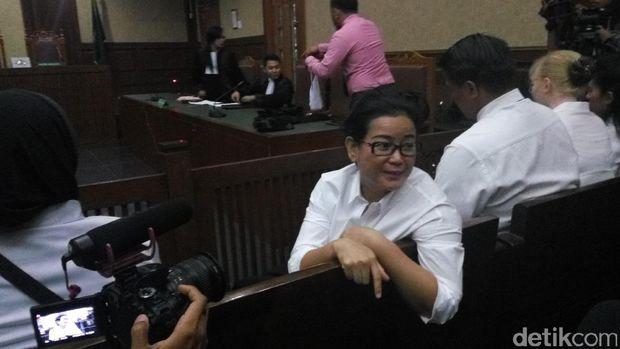 Miryam S Haryani menjalani sidang perdana di Pengadilan Tipikor, Kamis (13/7/2017)