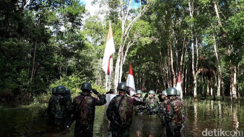 Foto: Yonif Para Rider 503/MK, tentara di perbatasan Indonesia-Papua Nugini (Afif/detikTravel)