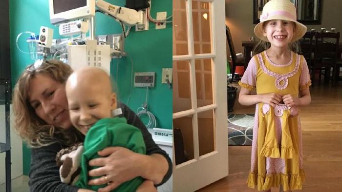 Piper sebelum operasi dan beberapa lama selepas kemoterapi. Ia nampak selalu ceria. (Foto: Facebook/Pray for Piper)