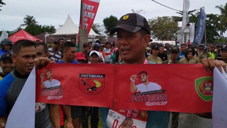 Kenang Jasa Pahlawan, Kodam Pattimura Gelar Lomba Aquathlon