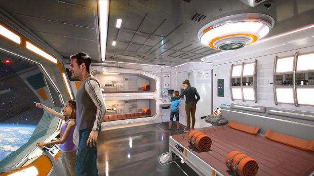Kamarnya bernuansa robot BB-8 (Disney Parks)